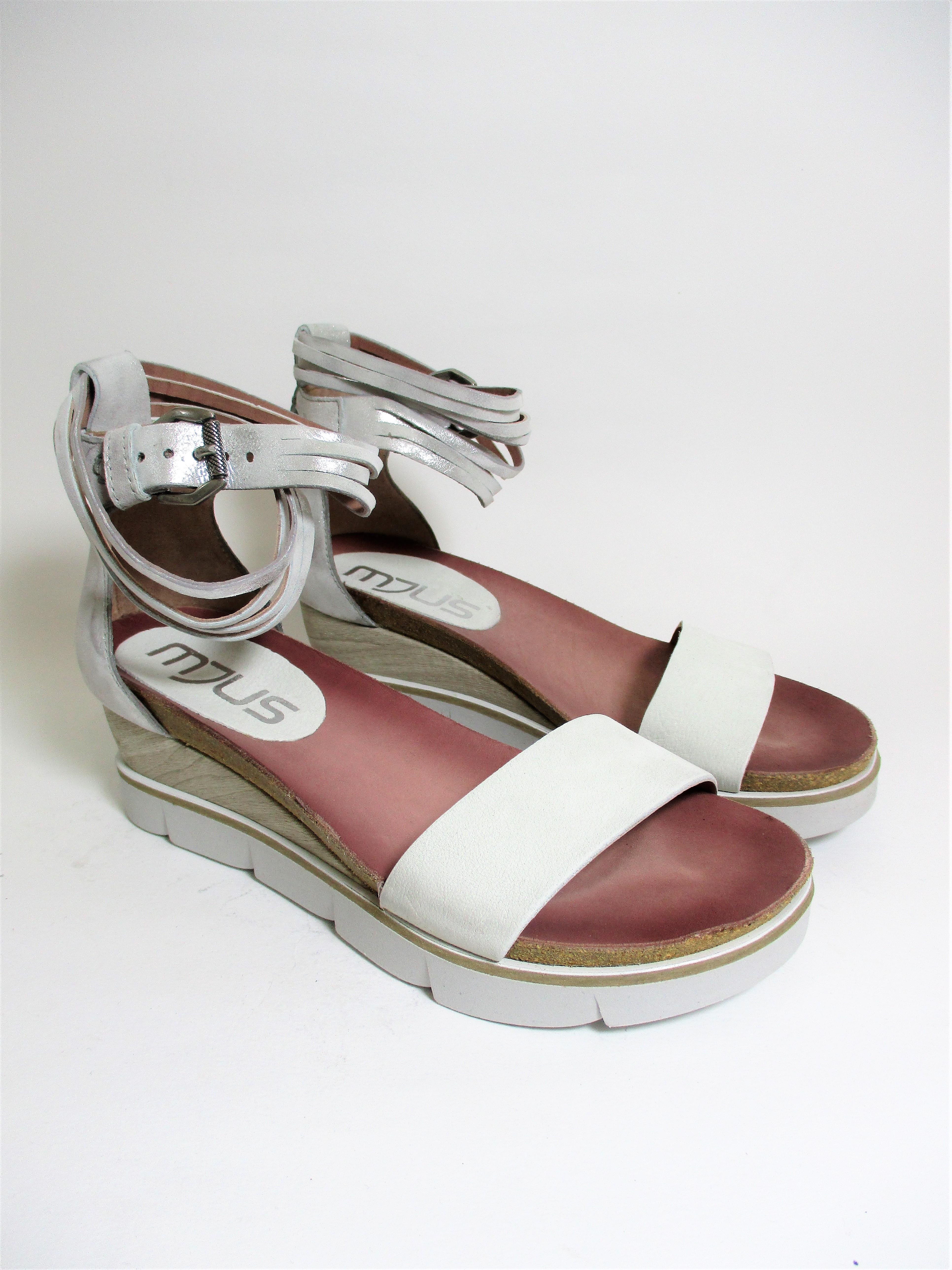 Mujer Calzado Cuero De 866005 Plateado Blanco Valery Sandalia Para Ok8wPn0X