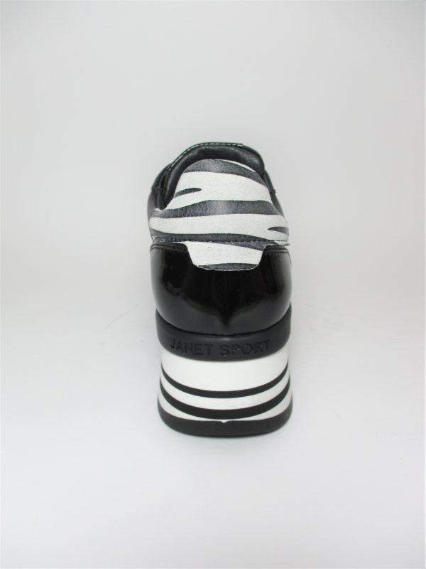 Sneaker Pelle Donna JANET SPORT 44700 Nero