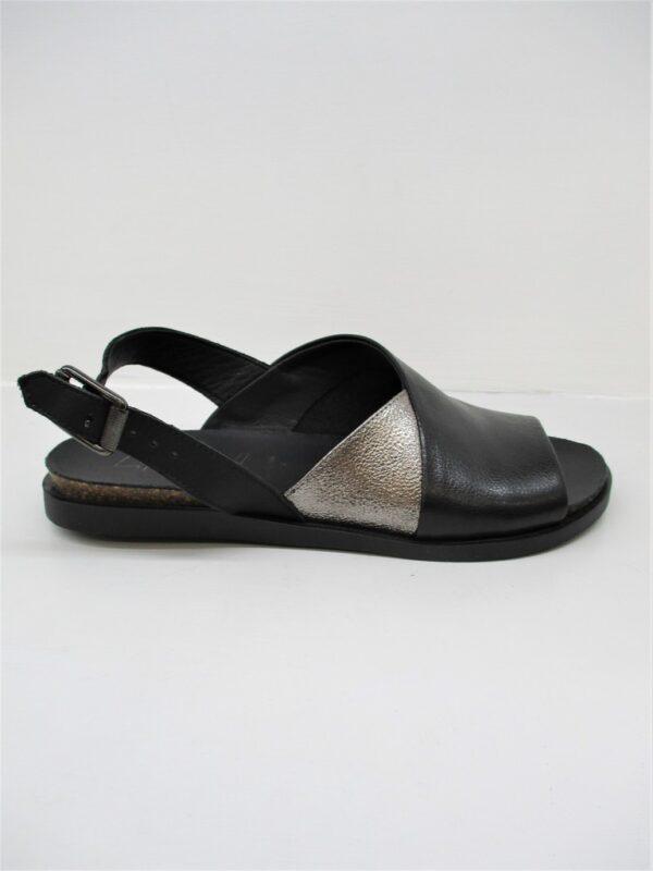 Sandalo donna pelle LILIMILL 6826 Nero